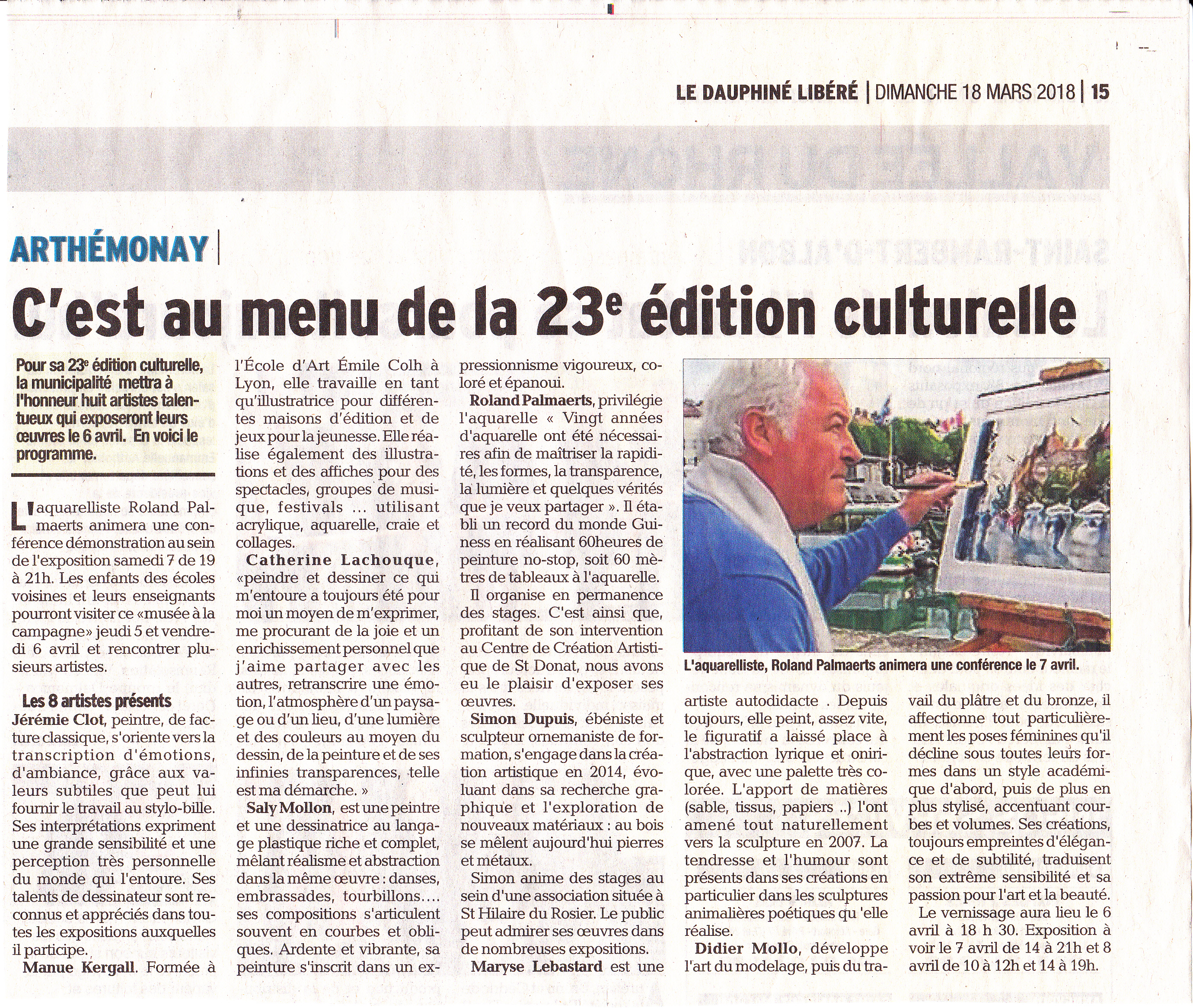 Article Dauphiné  Expo  2018